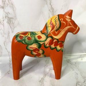 Vintage Dala Swedish Hand Carved Painted Horse